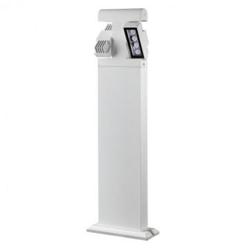 Садово-парковый светодиодный светильник Novotech Kaimas 357430, IP54, LED 8W, 3000K (теплый), белый, черно-белый, металл, металл со стеклом/пластиком, стекло - миниатюра 2