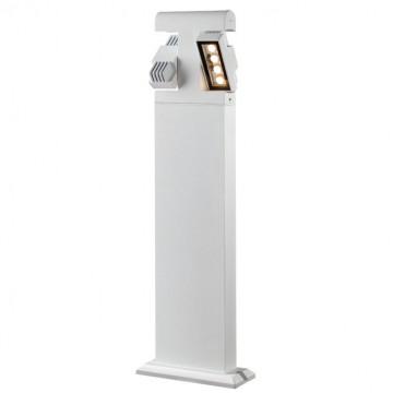 Садово-парковый светодиодный светильник Novotech Kaimas 357430, IP54, LED 8W, 3000K (теплый), белый, черно-белый, металл, металл со стеклом/пластиком, стекло - миниатюра 5