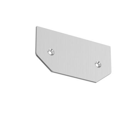Концевая заглушка для шинопровода Maytoni Single phase track system TRA001MPEC-11S, серебро, металл