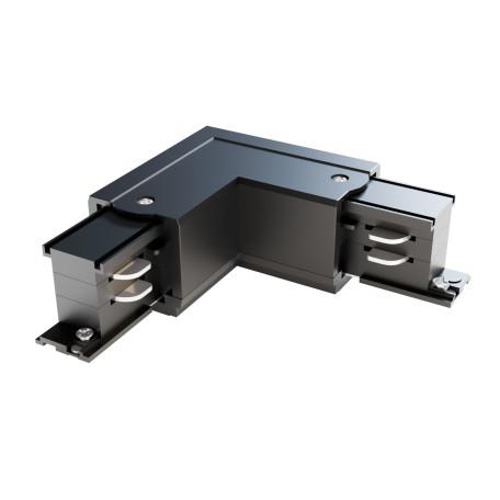 L-образный левый соединитель питания для треков Maytoni 3 phase track system TRA005CL-31B-L, черный, пластик