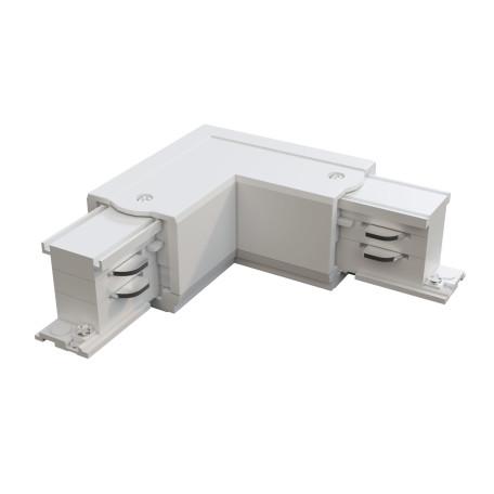 L-образный левый соединитель питания для треков Maytoni 3 phase track system TRA005CL-31W-L, белый, пластик