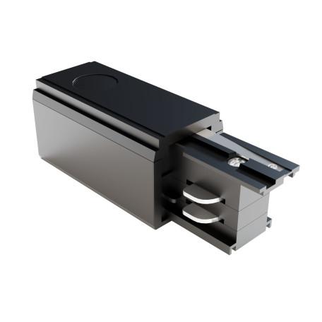 Левый подвод питания для трековой системы Maytoni 3 phase track system TRA005B-31B-L, черный, пластик