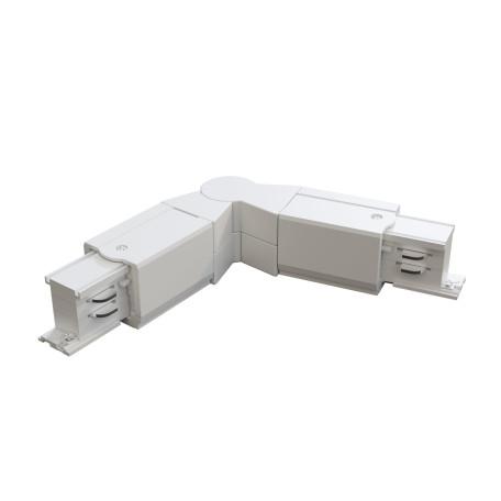 Поворотный соединитель питания для треков Maytoni 3 phase track system TRA005CS-31W, белый, пластик