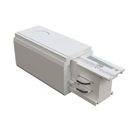 Правый подвод питания для трековой системы Maytoni 3 phase track system TRA005B-31W-R, белый, пластик
