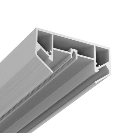 Профиль для монтажа шинной системы в натяжной потолок Maytoni Single phase track system TRA001MP-11S, серебро, металл