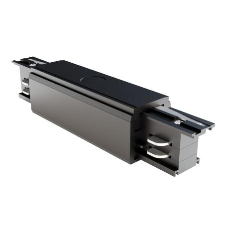 Прямой соединитель питания для треков Maytoni 3 phase track system TRA005C-31B, черный, пластик