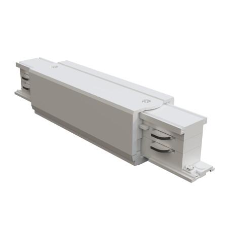 Прямой соединитель питания для треков Maytoni 3 phase track system TRA005C-31W, белый, пластик