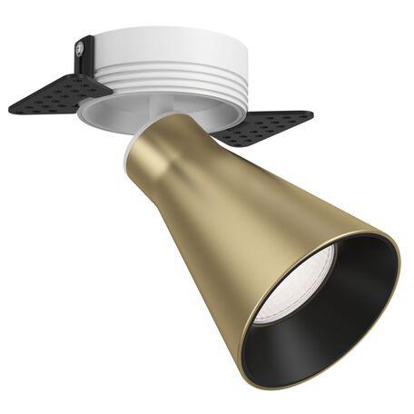 Светильник Maytoni Virar C060CL-1MGW, 1xGU10x10W, белый, золото с черным, металл