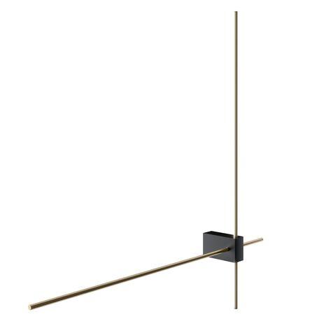 Светодиодный светильник Maytoni Pars C070WL-L12GB3K, LED 12W 3000K 1150lm CRI90, черный, золото, металл, пластик