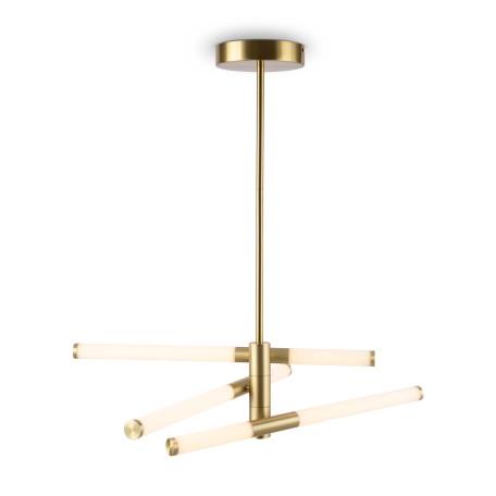 Светодиодный светильник Maytoni Axis MOD106PL-L28G3K, LED 28W 3000K 3000lm CRI80, золото, белый, металл, пластик