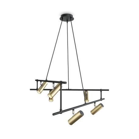 Светильник Maytoni Rami MOD128PL-06GB, 6xGU10x50W, черный, золото, металл