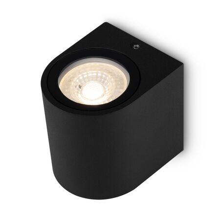 Светильник Maytoni Slat O044WL-01B, IP54, 1xGU10x10W, черный, металл, стекло