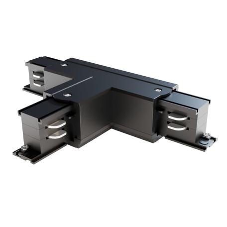 T-образный правый соединитель питания для треков Maytoni 3 phase track system TRA005CT-31B-R, черный, пластик
