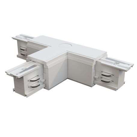 T-образный правый соединитель питания для треков Maytoni 3 phase track system TRA005CT-31W-R, белый, пластик