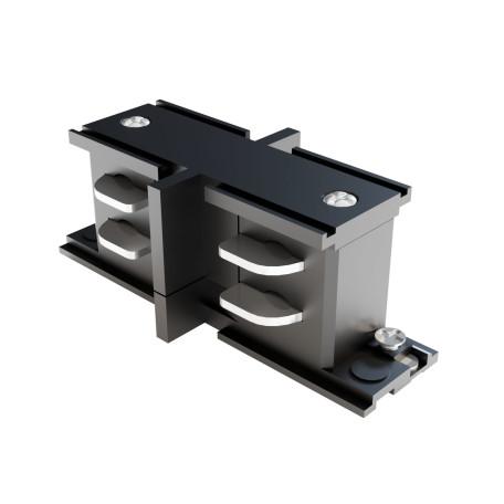 Внутренний прямой соединитель питания для треков Maytoni 3 phase track system TRA005CI-31B, черный, пластик