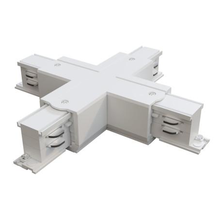 X-образный соединитель питания для треков Maytoni 3 phase track system TRA005CX-31W, белый, пластик
