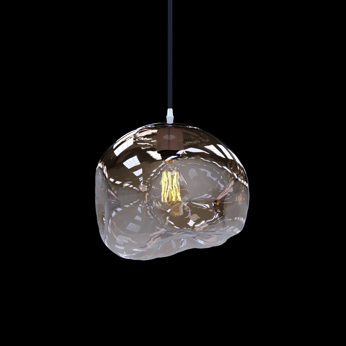 Подвесной светильник Loft It Melt LOFT2025-CH, 1xE27x40W, хром, металл, стекло - фото 3