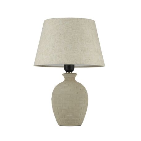 Настольная лампа Maytoni Adeline Z003-TL-01-W (mod003-11-w), 1xE27x60W, бежевый, керамика, текстиль - миниатюра 1