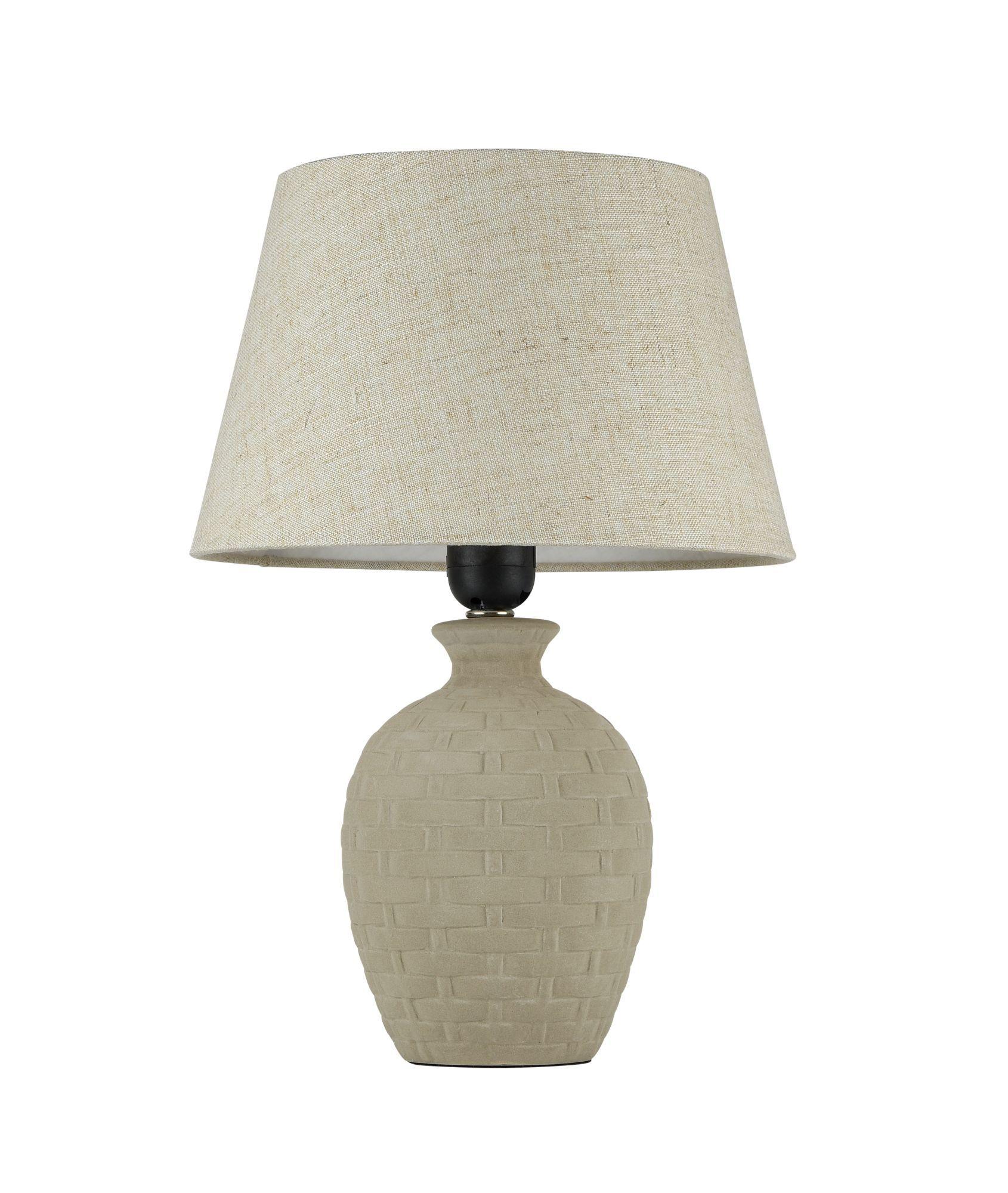 Настольная лампа Maytoni Adeline Z003-TL-01-W (mod003-11-w), 1xE27x60W, бежевый, керамика, текстиль - фото 1