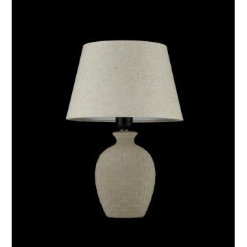 Настольная лампа Maytoni Adeline Z003-TL-01-W (mod003-11-w), 1xE27x60W, бежевый, керамика, текстиль - миниатюра 2