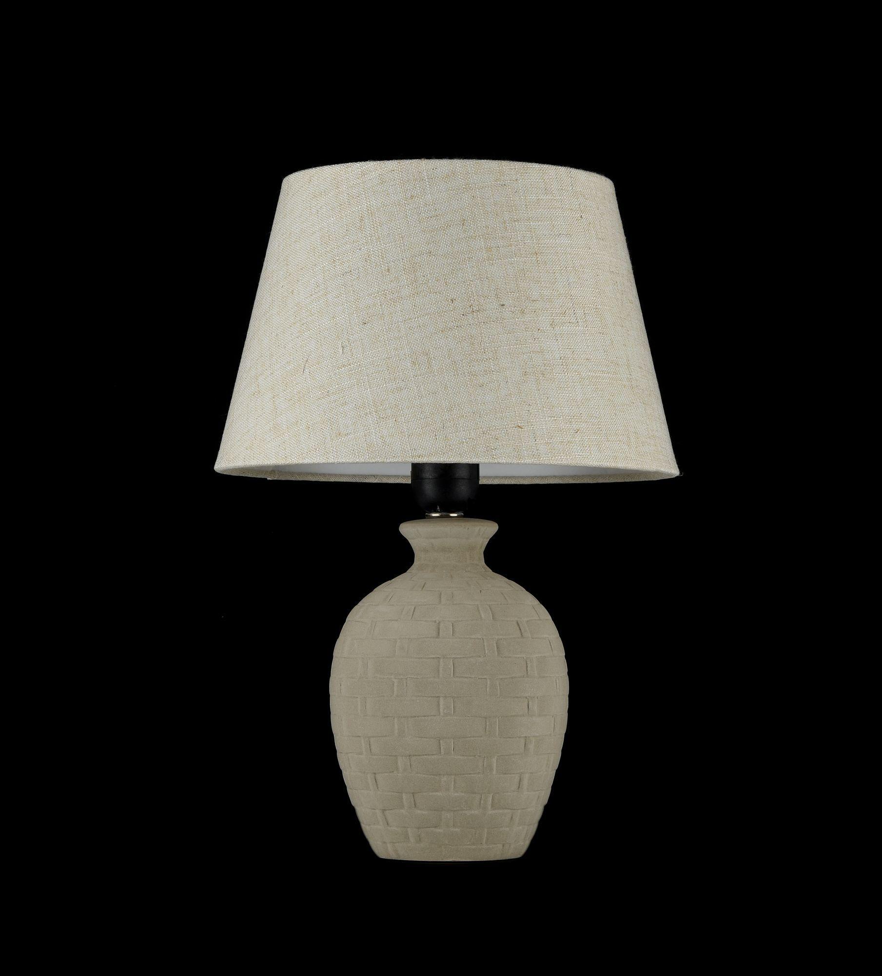 Настольная лампа Maytoni Adeline Z003-TL-01-W (mod003-11-w), 1xE27x60W, бежевый, керамика, текстиль - фото 2