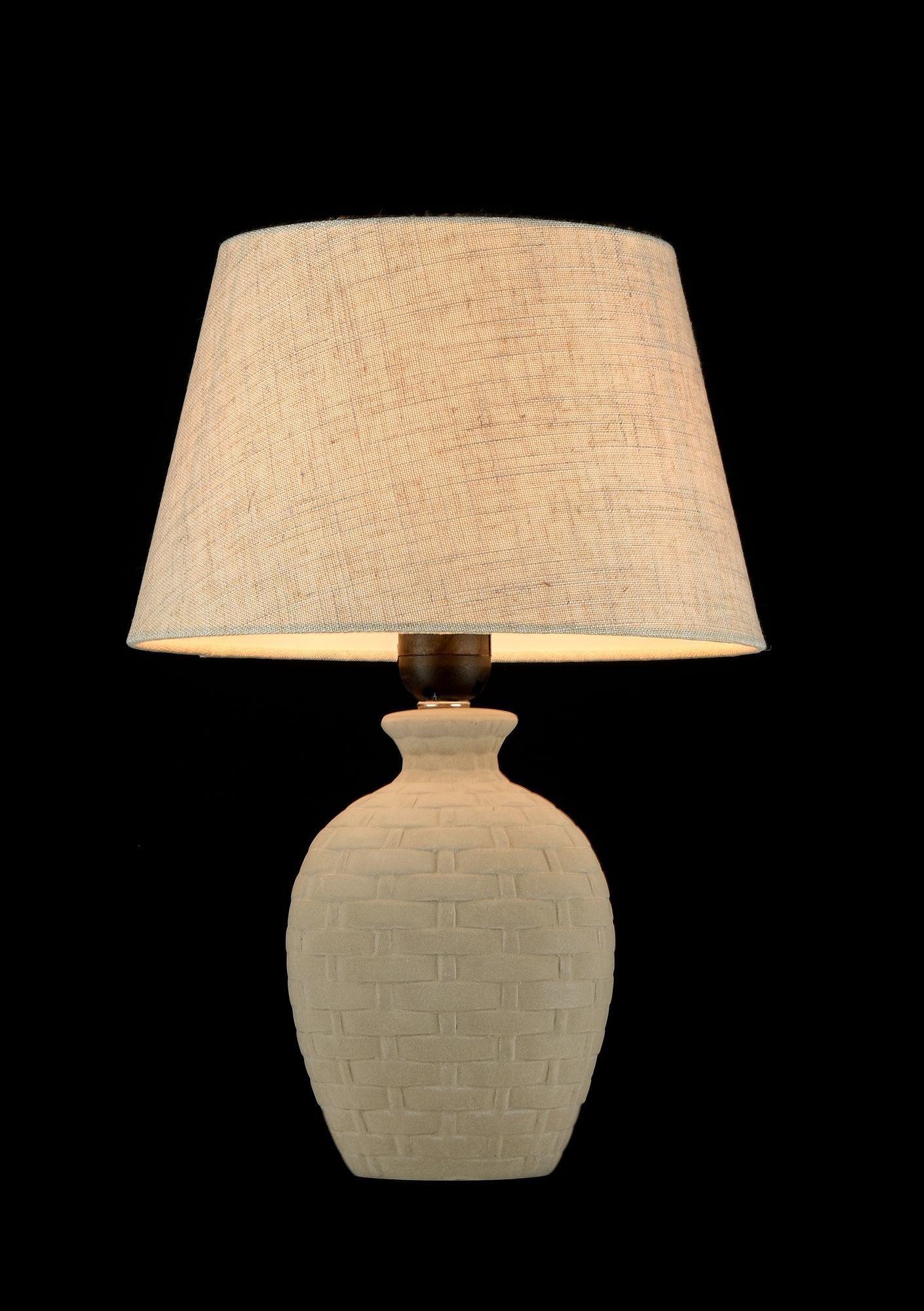 Настольная лампа Maytoni Adeline Z003-TL-01-W (mod003-11-w), 1xE27x60W, бежевый, керамика, текстиль - фото 3