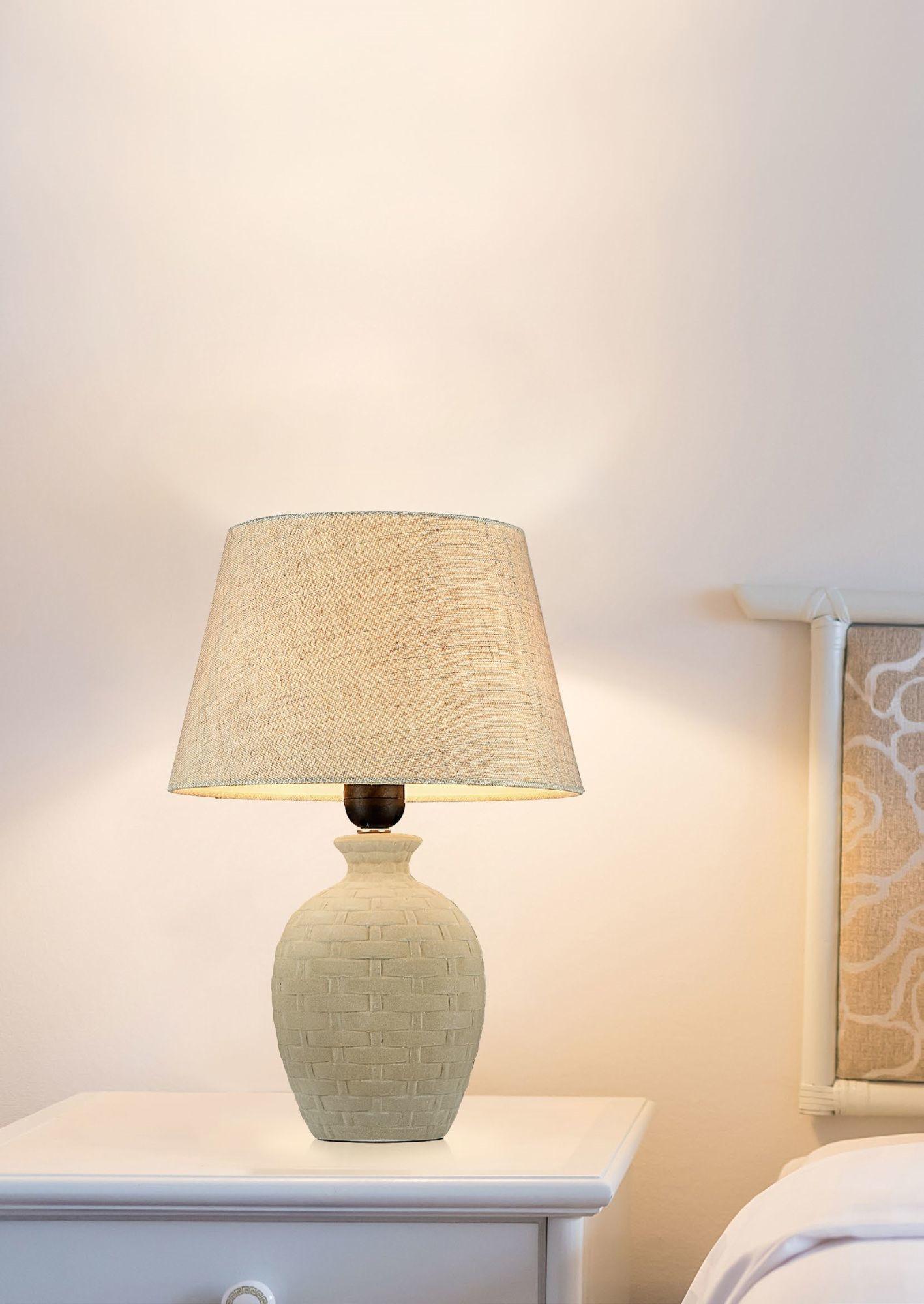 Настольная лампа Maytoni Adeline Z003-TL-01-W (mod003-11-w), 1xE27x60W, бежевый, керамика, текстиль - фото 4