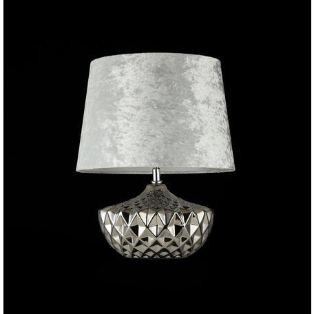 Настольная лампа Maytoni Adeline Z006-TL-01-W (mod006-11-w), 1xE27x60W, хром, серебро, керамика, текстиль