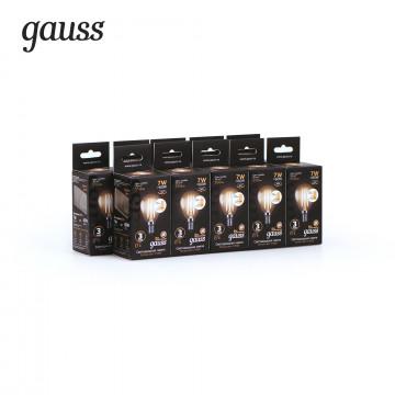 Филаментная светодиодная лампа Gauss 105801107-S шар малый E14 7W, 2700K (теплый) CRI>90 185-265V, диммируемая, гарантия 3 года - миниатюра 3
