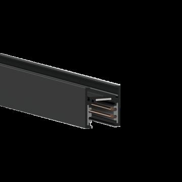 Магнитный шинопровод Ideal Lux OXY PROFILE 3000 mm LOW 224732, черный, металл