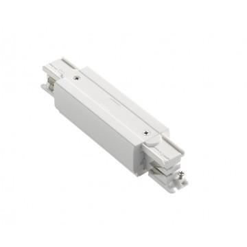 Прямой соединитель для шинопровода Ideal Lux LINK TRIMLESS MAIN CONNECTOR MIDDLE WH ON-OFF 227580, белый, пластик