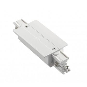 Прямой соединитель для шинопровода Ideal Lux LINK TRIM MAIN CONNECTOR MIDDLE WH ON-OFF 227689 (LINK TRIM MAIN CONNECTOR MIDDLE WHITE), белый, пластик