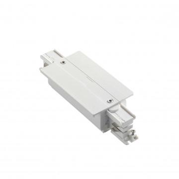 Прямой соединитель питания для треков Ideal Lux LINK TRIM MAIN CONNECTOR MIDDLE WH ON-OFF 227689 (LINK TRIM MAIN CONNECTOR MIDDLE WHITE), белый, пластик