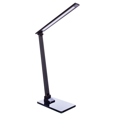 Настольная светодиодная лампа Arte Lamp Spillo A1116LT-1BK, LED 7W 4000K 300lm CRI≥80, черный, металл со стеклом, металл, пластик