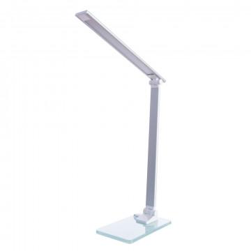 Настольная светодиодная лампа Arte Lamp Spillo A1116LT-1WH, LED 7W 4000K 300lm CRI≥80, белый, металл со стеклом, металл, пластик