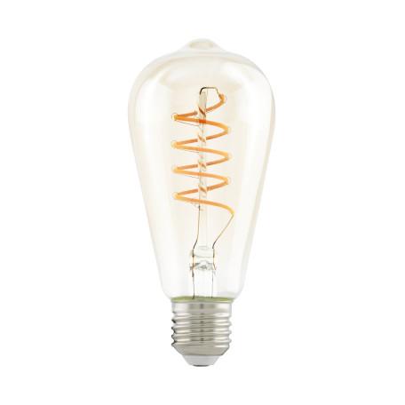 Филаментная светодиодная лампа Eglo 11681 прямосторонняя груша E27 4W, 2200K (теплый) CRI>80, гарантия 5 лет