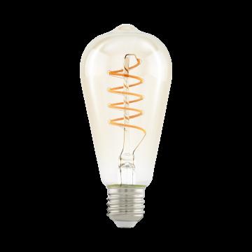 Филаментная светодиодная лампа Eglo 11681 прямосторонняя груша E27 4W, 2200K (теплый), гарантия 5 лет