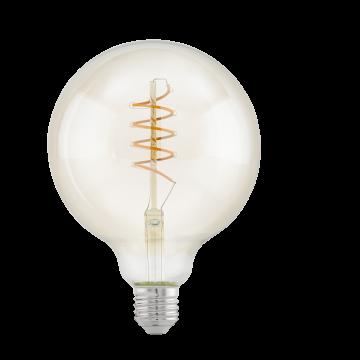 Филаментная светодиодная лампа Eglo 11683 шар E27 4W, 2200K (теплый), гарантия 5 лет