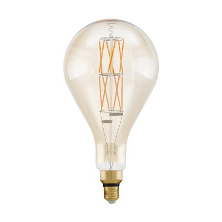 Филаментная светодиодная лампа Eglo 11686 прямосторонняя груша E27 8W, 2100K (теплый) CRI>80, диммируемая, гарантия 5 лет