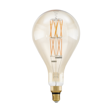 Филаментная светодиодная лампа Eglo 11686 прямосторонняя груша E27 8W, 2100K (теплый), диммируемая, гарантия 5 лет