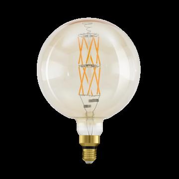 Филаментная светодиодная лампа Eglo 11687 шар E27 8W, 2100K (теплый) CRI>80, диммируемая, гарантия 5 лет