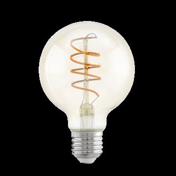 Филаментная светодиодная лампа Eglo 11722 шар E27 4W, 2200K (теплый), гарантия 5 лет