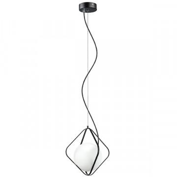 Подвесной светильник Lightstar Globo 803317, 1xG9x40W, черный, черно-белый, металл, металл со стеклом