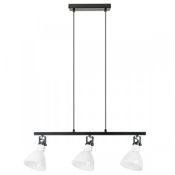 Подвесной светильник с регулировкой направления света Lightstar Acrobata 761130, 3xE14x40W, черный, белый, металл