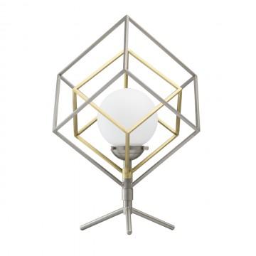 Настольная светодиодная лампа De Markt Призма 726030401, LED 5W 3000K, никель, бронза, металл, металл со стеклом