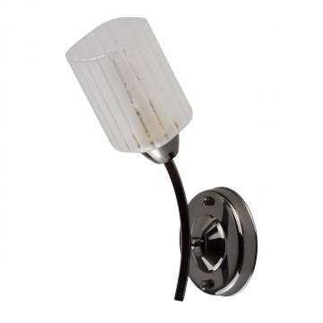 Бра De Markt 638023301 Олимпия, черный хром, белый, прозрачный