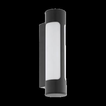 Настенный светодиодный светильник Eglo Tonego 97119, IP44, LED 12W 3000K 1000lm, серый, металл, металл со стеклом/пластиком