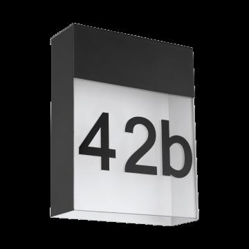 Светодиодный светильник-указатель Eglo Ponso 97117, IP44, серый, белый, прозрачный, металл, стекло