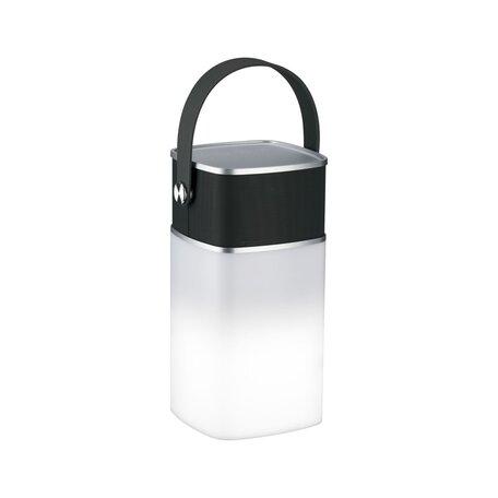 Садовый светодиодный светильник Paulmann Mobile Accu Tablelamp Clutch Sound Power 94211, IP44, LED 1,3W, серый, пластик