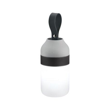 Садовый светодиодный светильник Paulmann Mobile Accu Tablelamp Clutch Sound 94212, IP44, LED 1,5W, серый, пластик